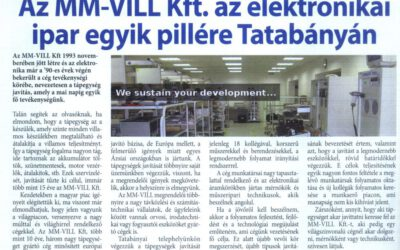 MM-VILL Kft is one of the pillars of the electronics industry in Tatabánya